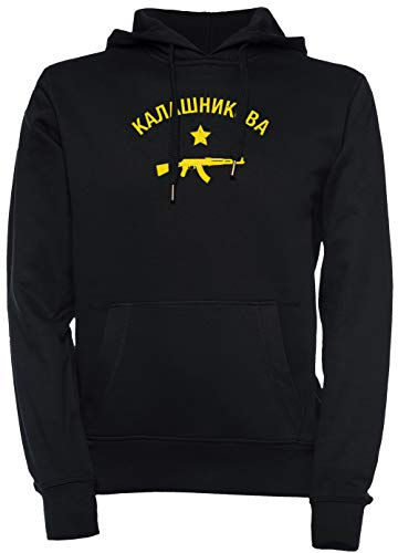 8f519120da3f Kalashnikov AK47 - Kalashnikov Hombre Unisexo Hombre Mujer Sudadera con  Capucha Jersey Pullover Negro Tamaño L Men's Women's Hoodie Black T-Shirt  ...