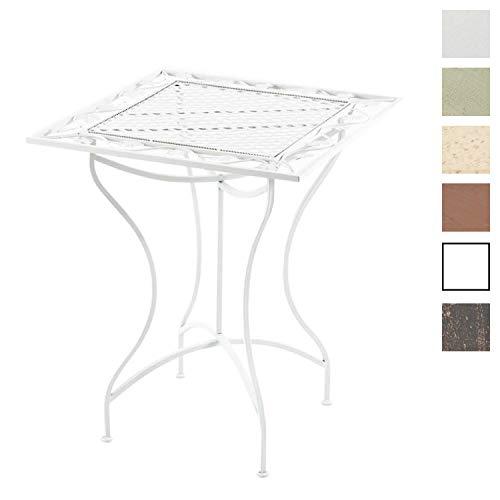CLP Eisentisch ASINA im Jugendstil I Robuster Gartentisch mit kunstvollen Verzierungen Weiß