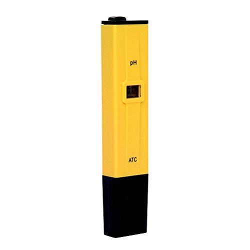 OUNONA ATC Wasserqualität Tester Digital PH Meter Bereich 0-14 PH (Gelb)