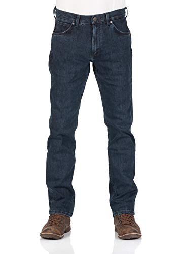 Wrangler Herren Jeans Greensboro - Regular Fit - Night Shift - Blue Lava - Black Steam, Größe:W 33 L 34, Farbe:Blue Lava (W15QRR206) Relaxed Fit-shift