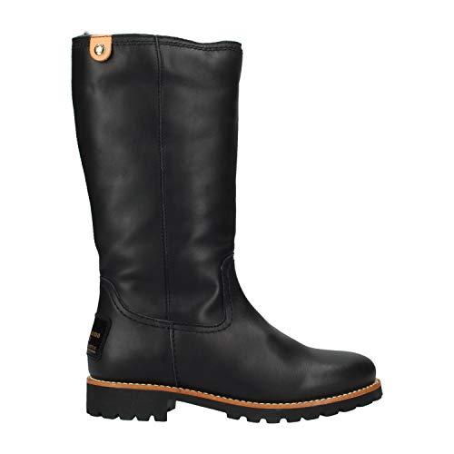 PANAMA JACK Damen Winterstiefel Bambina Travelling,Frauen Winter-Boots,Fellboots,Fellstiefel,gefüttert,warm,wasserabweisend,Schwarz,EU 40