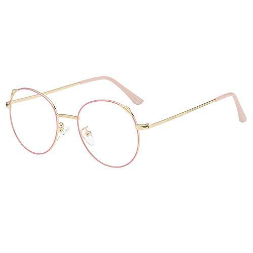 Dorical Mehrfarbig Brille Für Herren und Damen/Metallgestell Brillenfassung Aviator Vintage Brille Dekobrillen/Mode Rund klar Linse Brille Jahrgang Geek Nerd Retro Stil Metall Rahmen Sale