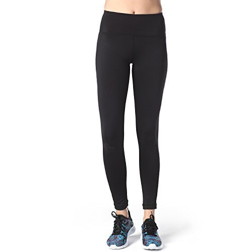 Lapasa Yoga Lange Leggings, Strechy Yoga Sporthosen, atmungsaktiv, hautsympathisch und elastisch (L, Schwarz)