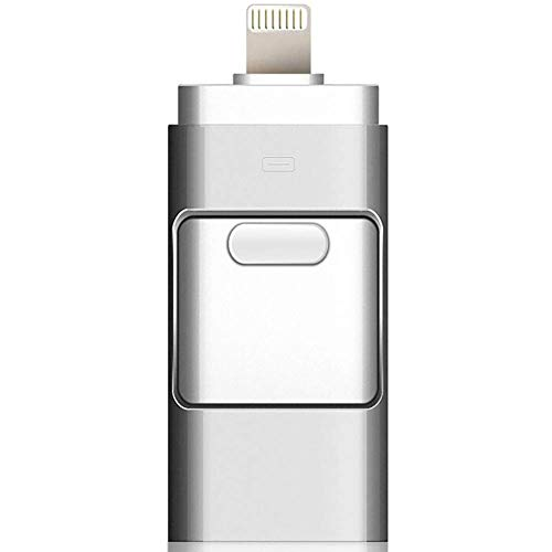 BWHTY USB-Flashlaufwerk Max. 128 GB 3-in-1-kompatibles iPhone, USB 3.0-Adapter Externer Speicher Memory Stick-Adapter Erweiterung Kompatibel mit Android/iPad/iPod/Mac/PC/iOS - Verwendet 16gb Ipod
