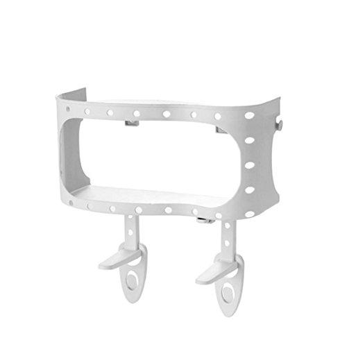 Multifunktions-Regal, mamum Kunststoff Saugnapf Badezimmer Küche Ecke Storage Rack Organizer Dusche Regal grau/khaki/pink/weiß Einheitsgröße weiß (Schrank-schiebe-korb)