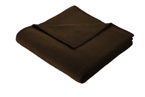 Biederlack Sofadecke 150 x 200 cm, Baumwolle 60%, Braun (3x5 Wolldecke, Die)
