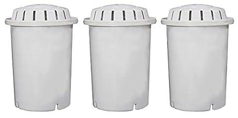 PH001Ionisé Cartouche filtre à eau alcaline par l'eau revigorée, compatible avec les systèmes de filtration d'eau revigorée Living, Purificateurs et les distributeurs, longue durée Pierre minérale en céramique de carbone Filtres Charbon, améliore la ph, du potentiel d'oxydo-réduction et ajoute des minéraux essentiels, élimine les métaux lourds, fluor, les bactéries, les pesticides et herbicides. 3 Pack