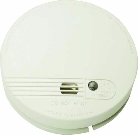 White Firex Smoke Alarm 4870 (Kidde, ) Dual voltage power supply with 230v mains power or 9v battery backup