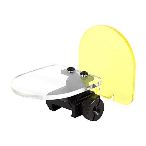 Tactical Scope Lens Protector Faltbarer Schutzanzug Lens Screen Cover Shield (Farbe: Gelb + Transparent) (Color : Yellow+Transparent) - Cover Lens Shield