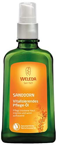 WELEDA Sanddorn Vitalisierendes Pflege-Öl, Naturkosmetik Körperöl für die intensive Pflege von trockener Haut, Body Öl für spürbare Glätte und Erholung der Haut (1 x 100 ml)