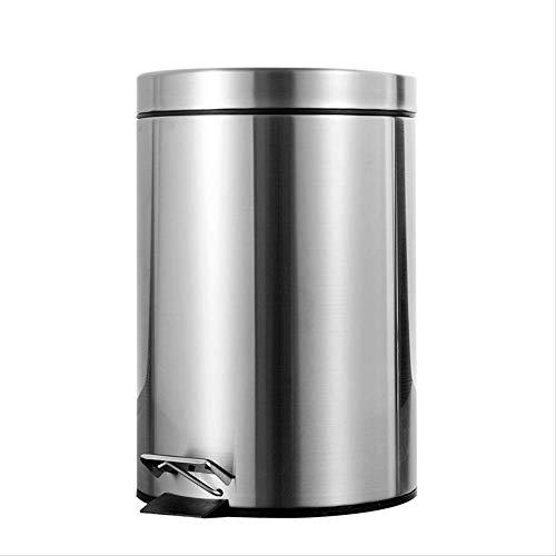 zhenxin Mülleimer 7l Badezimmer Trash Kann Runde Schritt Fuß Pedal Dustbin Eimer mit Deckel Mini Desktop Toilette Küche Auto Eimer Mülldose