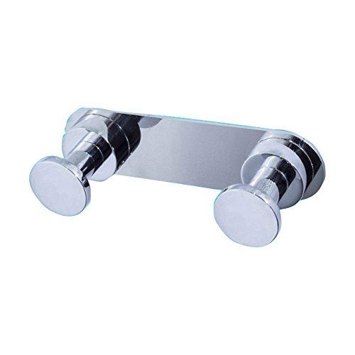 Toilettenpapierhalter Großrollen Jofel aw22300Doppel Aufhänger, Messing verchromt, Helligkeit