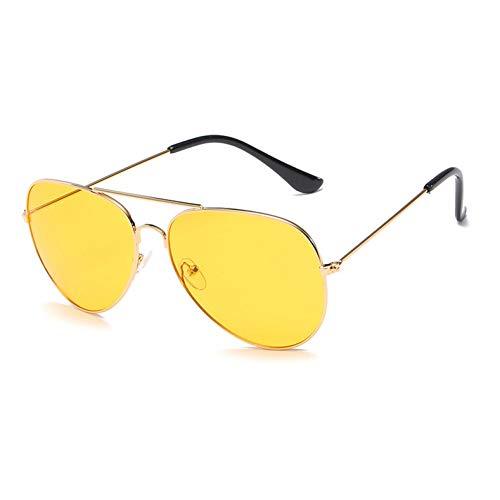 Siwen Neue Frauen Pilot Sonnenbrillen Männer Gradient Lens Glasses,Gelb löschen