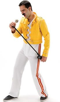 Mens 1980's music fancy dress costume - I Will Rock You - standard size...