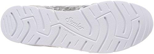 Semler Nelly, Sneaker Donna Grau (Perle-Chrom-Silber)