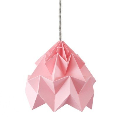 Petite Suspension Origami Moth Rose Diam 20 cm Snowpuppe
