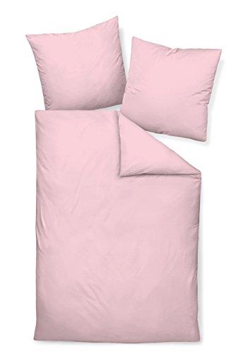 Janine Mako Satin Bettwäsche Uni Colors 135 x 200 cm rosa Fb. 11
