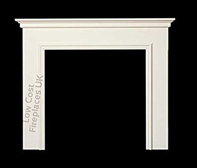 Electric or Gas Brilliant White Mantel Mantle Piece Traditional Surround Wall Fire Fireplace