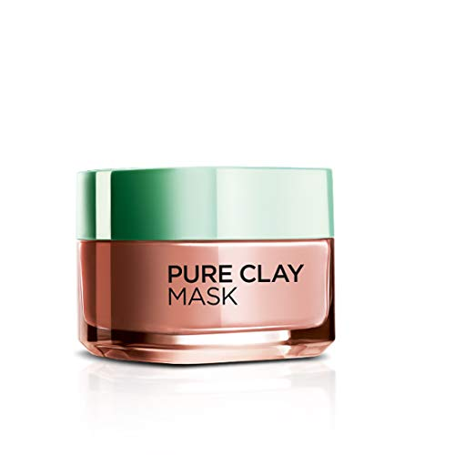 L'Oreal Paris Pure Clay Mask, Exfoliate & Refine Pores, 48ml