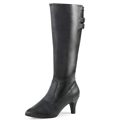 Higher-Heels Pink Label Big Size Damen Stiefel Divine-2018 schwarz Gr. 46