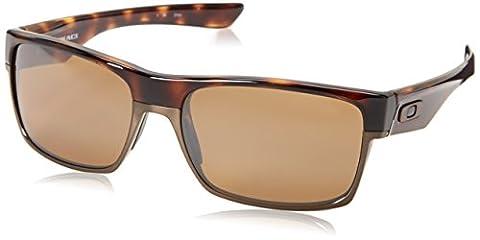 Oakley - Lunette de soleil Twoface Rectangulaire - Homme, Brown/Tungsten Iridium Polarized (S3)