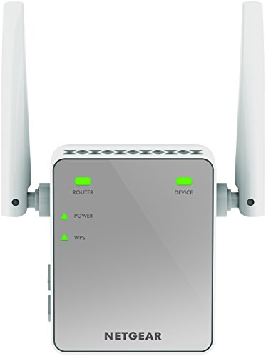 Price comparison product image NETGEAR Mini N300 Mbps Wi-Fi Range Extender with External Antennas (Wi-Fi Booster) (EX2700-100UKS)