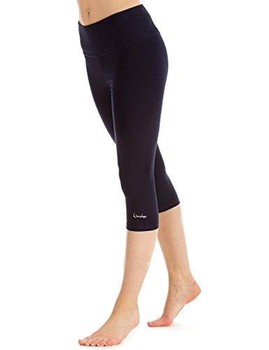 Winshape Damen Slim Tights Leggings WTL2 Fitness Yoga Pilates, Night Blue, M