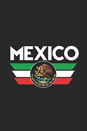 Mexico Flag Wings: Dotted Bullet Grid Notebook / Journal (6 X 9) - Gift Idea For All Mexican (Party City Wings)