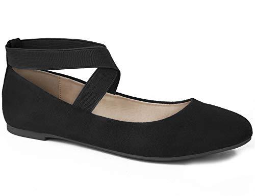 MaxMuxun Damen Geschlossene Ballerinas Flache Rund Toe Caprice Schuhe