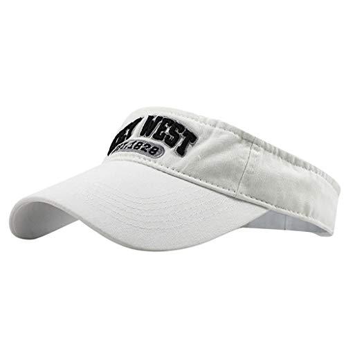 EUCoo Outdoor Sonnenhut Sportkappe Golf Leere Top Waschbar Leinwand BaseballmüTze Kappe Klassische MüTze(Weiß)