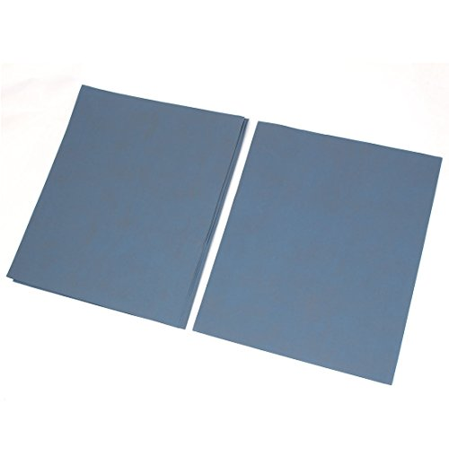 sourcingmap® 3000 Polissage poussiére abrasif un papier ponçage à sec Square Feuille 5 pcs