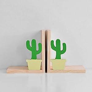 Good day Holz Buchstützen Buch Kreative Bücherregal Studie Büro Dekoration Ornamente Kinder, Cactus