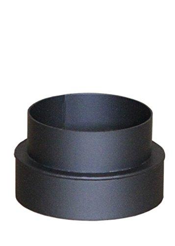 Ofenrohr Rauchrohr Bogen Senotherm 2 mm 150 mm schwarz gussgrau (Schwarz, Reduzierung 150-130mm)