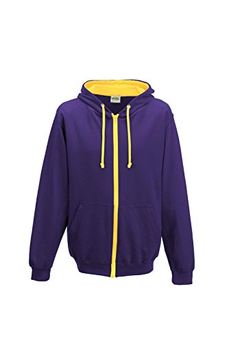 AWDis Varsity Zoodie Purple/Sun Yellow