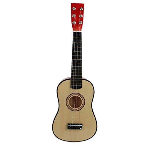 "Kinder Gitarre - LEXPON 23\"" Gitarre Mini Gitarre Basswood Kinder Musik Spielzeug Akustik Saiteninstrument mit Plektrum 1st String Natueerliche Farbe"