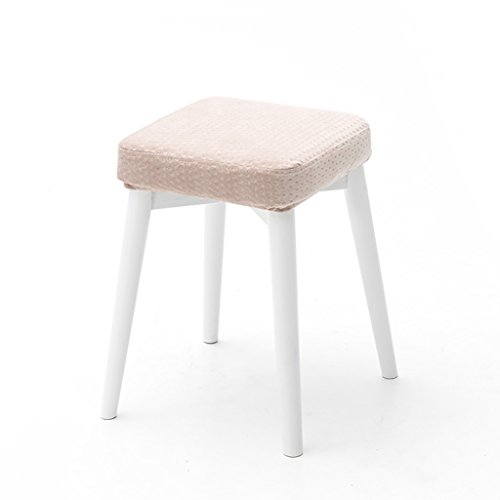 LQQGXL Europäischer Stuhl Massivholz Esszimmer Hocker Hocker Kann Gestapelt Werden Hocker Kreative Mode Dressing Hocker Stoff Tisch und Hocker Hause Kleine Bank (Farbe : B, Größe : #3) (Esszimmer Hocker Schlafzimmer Bar)