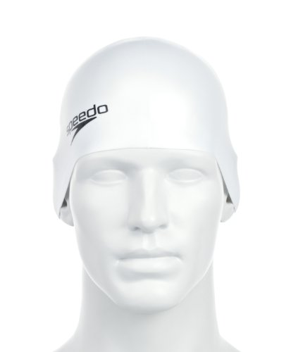 Speedo Unisex Badekappe Plain Moulded Silicone, white, one size, 8-709840003