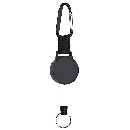outus-bobine-di-badge-retrattile-moschettone-robusto-catena-con-25-pollici-filo-di-acciaio-inox-nero