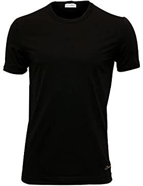 Camiseta Dolce & Gabbana Mako Algodón Cursiva Logo Cuello Redondo Hombres, Negro/amarillo