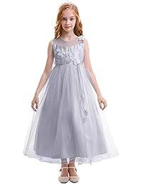 4e780350727a Amazon.co.uk  Grey - Dresses   Girls  Clothing
