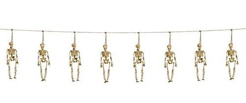 Girlande mit Skeletten