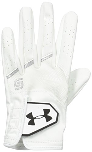 Under Armour Jungen CoolSwitch Golf Handschuhe, White/Metallic Silver/Black, LMD