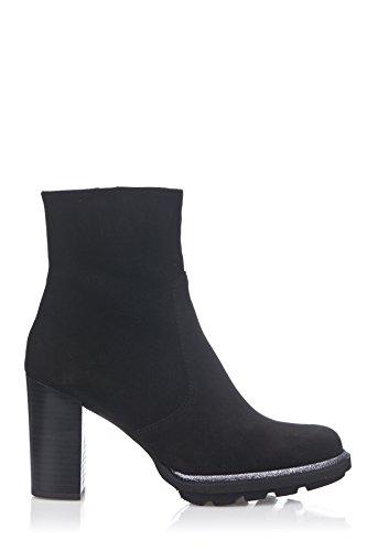Laura Moretti - Bootie With Platform Sole And Heel, Stivali Donna Nero