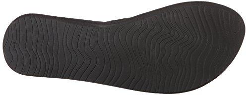 Flip-flop Nero Sottile Per La Barriera Corallina Dello Zenzero (nero / Nero / Bk2)