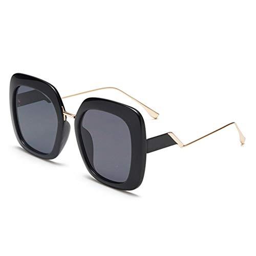 YOURSN Übergroße Sonnenbrille Frauen Designer Metall Sonnenbrille Weiblichen Großen Rahmen Brillen Shades Für Dame-Black