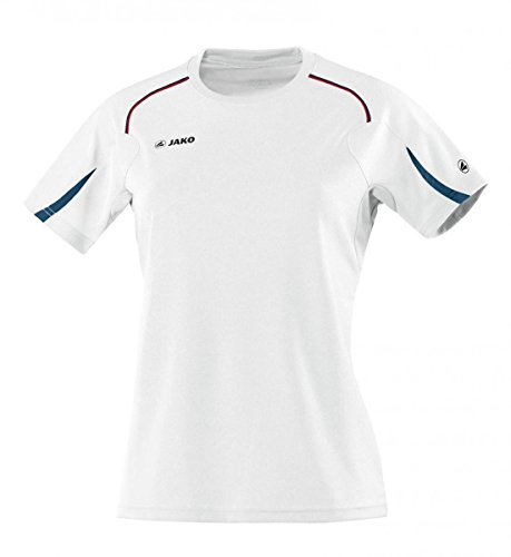 JAKO Damen T Shirt Passion Weiß/Marine/Rot