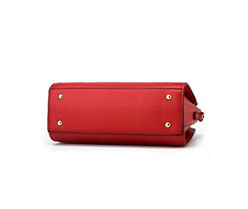 Mme Petit Sac Sac Carré De La Mode PIP Rétro Tempérament épaule Sac D'ordinateur Portable Messenger red