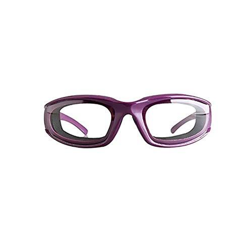 Ruiting 1Stk Tearless Küche Zwiebelbrille Professionelle Dauerhafte Zwiebel Schutzbrille für Küche und Heimgebrauch freie Wear Zwiebelbrille leichtgewichtig Slicing Eye Protector Lila Home dekor