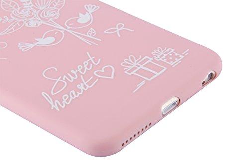 Apple iphone 6s Plus Hülle,iphone 6 Plus TPU Case Cover,Ekakashop Ultra Dünn Rose Soft Glänzend Schale Silikon Gel Schutzhülle Handyhülle mit Muster für Apple iPhone 6 plus / 6s plus, Wunderschön Eine Wedding Set