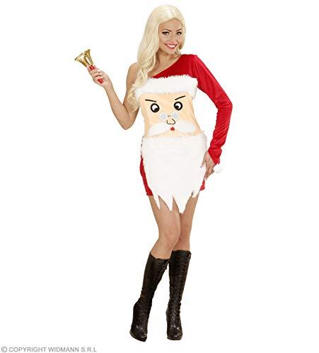 Claus Santa Kostüm Girl - WIDMANN wdm76003-Kostüm für Erwachsene Santa Claus Girl, rot, L